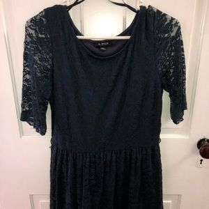 Navy lace A. Byer dress